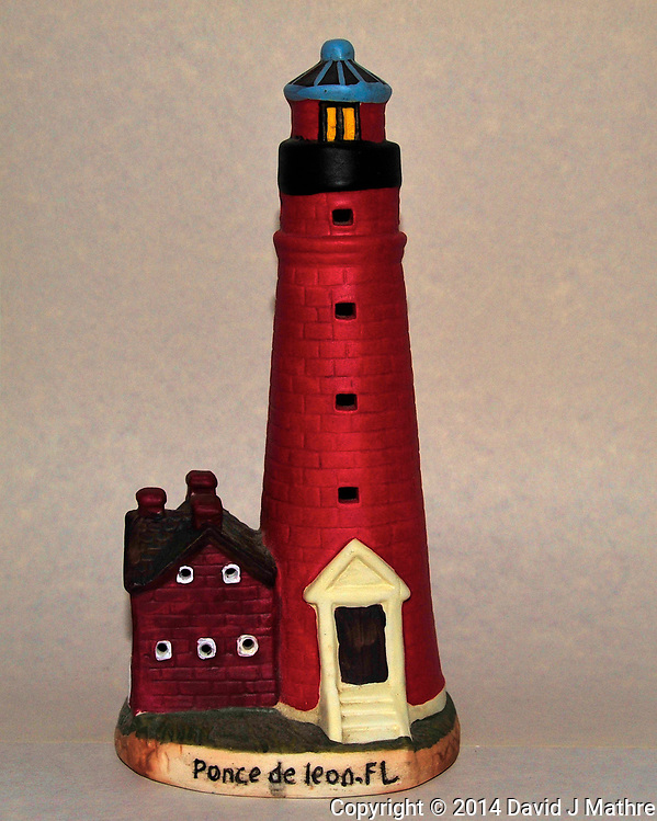 Ponce de Leon Lighthouse - Ceramic Replica. Image taken with a Nikon D700 camera and 28-300 mm VR lens (ISO 800, 44 mm, f/11, 1/60 sec, pop-up flash +1 EV) (David J Mathre)