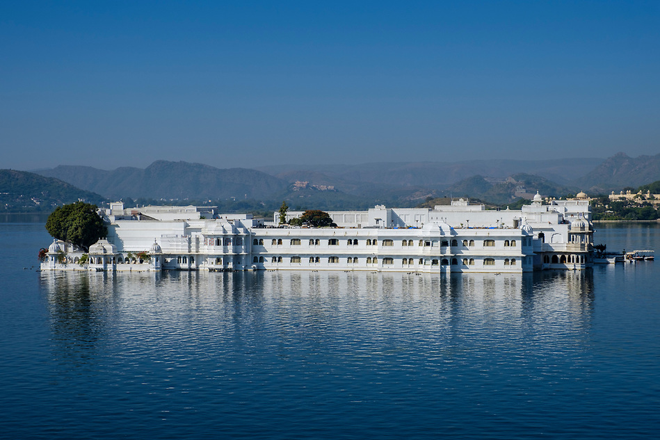 UDAIPUR, INDIA - CIRCA NOVEMBER 2016: Lake Palace Hotel formerly known as Jag Niwas in Lake Pichola in Udaipur (Daniel Korzeniewski)