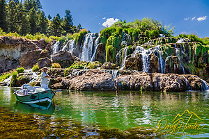 Fly-fisherman working the waters of the South Fork of the Snake River below Fall Creek Falls,  Swan Valley Idaho. (Daryl L. Hunter)