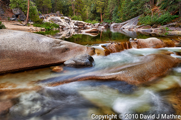 Moving and Still Waters. Merced river in Yosemite National Park. Image taken with a Nikon D3 camera and 24 mm f/3.5 PC-E lens (ISO 200, 24 mm, f/16, 2 sec). (David J Mathre)