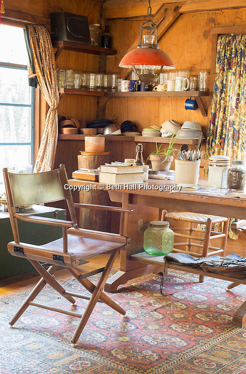 Interior of the home of Robert Runyon in Sugar Tree Hollow in Winslow, Arkansas, for Out Here Magazine. Photo by Beth Hall (Beth Hall)