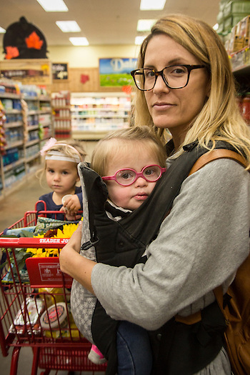 """I want to be an avocate for kids with special needs.""  -Crystal Eiser with daughters at Trader Joe's in Concord, CA. (Clark James Mishler)"