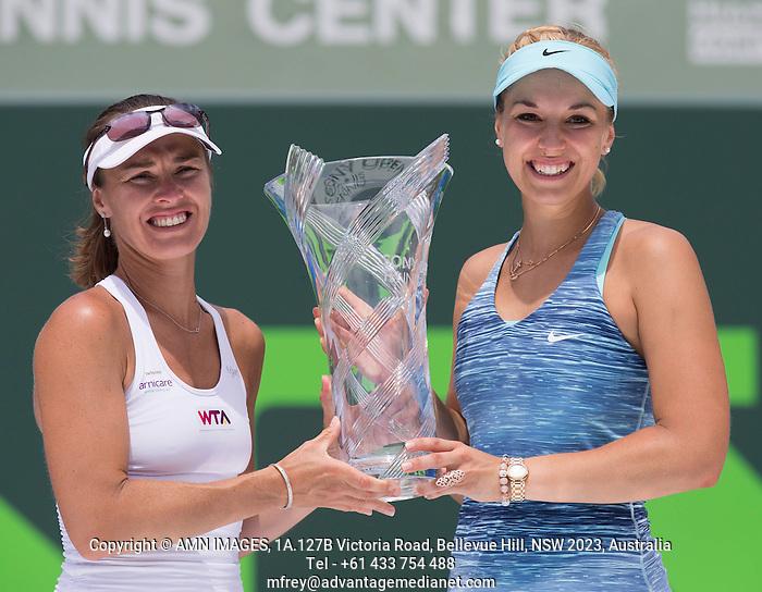 SABINE LISICKI (GER), MARTINA HINGIS (SUI) Tennis - Sony Open -  Crandon Park - Miami - Florida - USA - ATP-WTA - 2014  - USA  -  30 March 2014.  © AMN IMAGES (FREY/FREY- AMN Images)