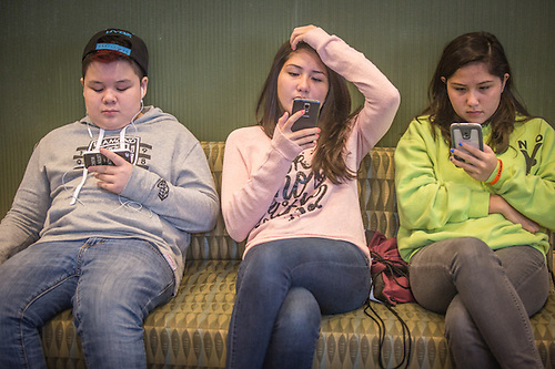 Young delegates to the AFN Convention in the Dena'ina Convention Center, Anchorage (© Clark James Mishler)