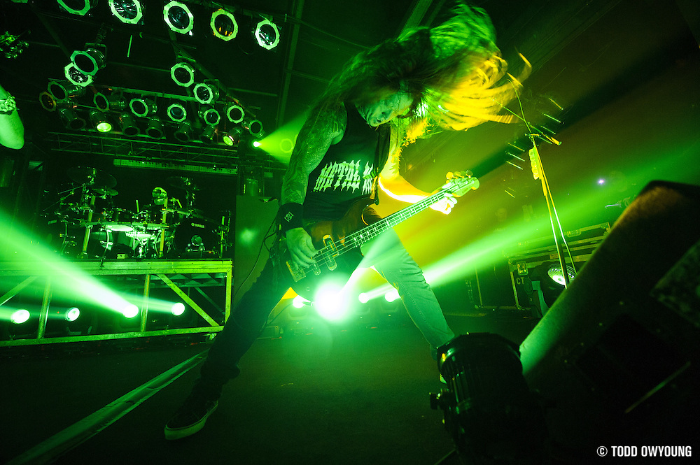Machine Head performing at Pop's in Sauget, IL on January 17, 2012. (Todd Owyoung)