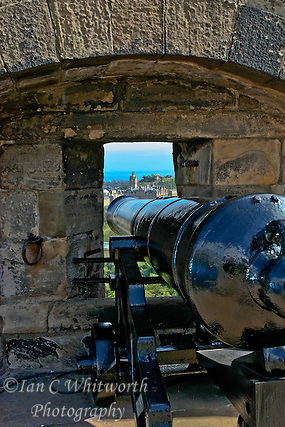 A view from a cannon at Edinburgh Castle (Ian C Whitworth)