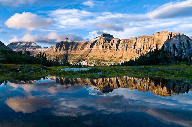 summer reflection of the garden wall in glacier national park, crown of the continent, montana, usa (Tony Bynum)