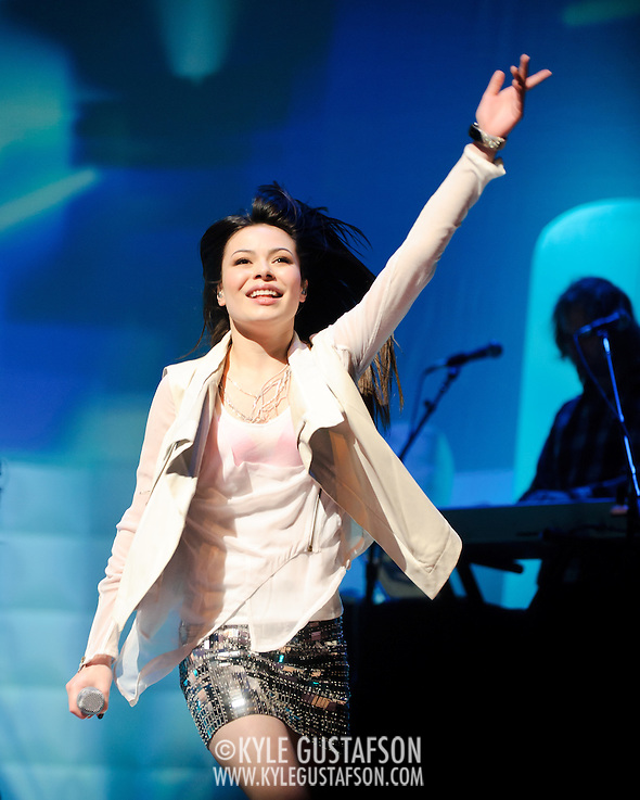 BETHESDA, MD - February 9th, 2011: Teen sensation Miranda Cosgrove performs at the Strathmore Music Hall on her first ever tour of the United States. (Photo by Kyle Gustafson/For The Washington Post) (Photo by Kyle Gustafson / For The Washington Post)
