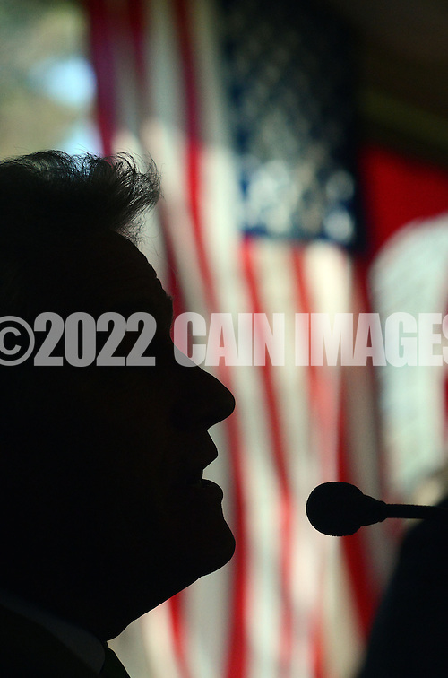 DOYLESTOWN, PA - APRIL 24:  State Rep. Bernie O'Neill  is silhouetted as he answers a question during the Central Bucks Chamber of Commerce State of the State breakfast at the Water Wheel April 24, 2014 in Doylestown, Pennsylvania.  (Photo by William Thomas Cain/Cain Images) (William Thomas Cain)
