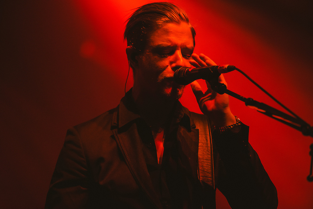Photos of Interpol performing live at Atlantic Studios in Ásbrú for ATP Iceland 2014 in Keflavík, Iceland. July 12, 2014. Copyright © 2014 Matthew Eisman. All Rights Reserved (Matthew Eisman/Photo by Matthew Eisman)