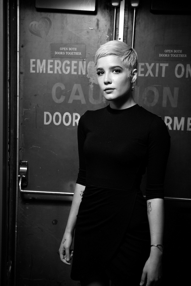 Portraits of Halsey during an exclusive iHeartRadio Q&A hosted by Z100's Maxwell at the iHeartRadio Theater, NYC. October 25, 2015. Copyright © Matthew Eisman. All Rights Reserved (Matthew Eisman/Photo by Matthew Eisman)