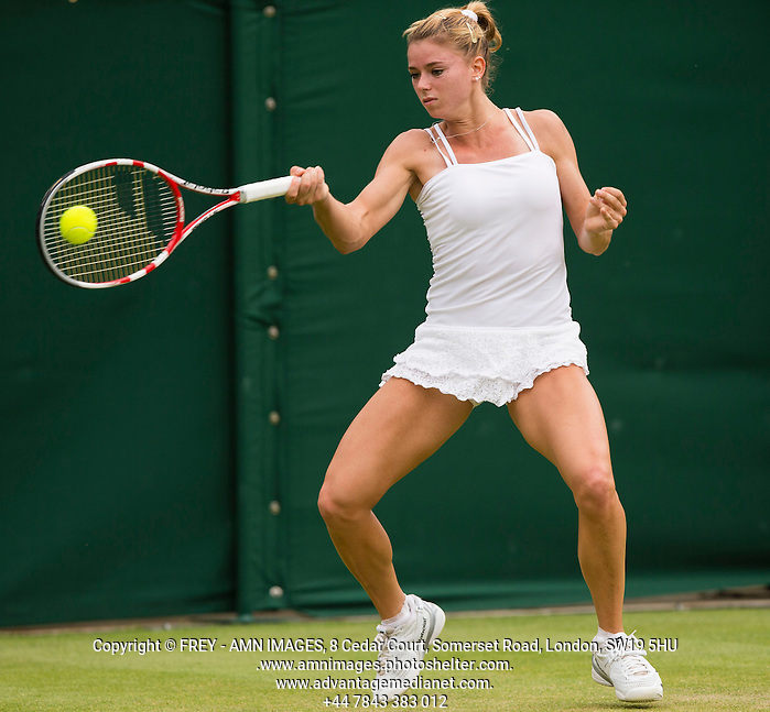 Camila Giorgi Tennis - The Championships Wimbledon  - Grand Slam -  All England Lawn Tennis Club  2013 -  Wimbledon - London - United Kingdom - Friday 28th June  2013.  © AMN Images, 8 Cedar Court, Somerset Road, London, SW19 5HU Tel - +44 7843383012 mfrey@advantagemedianet.com www.amnimages.photoshelter.com www.advantagemedianet.com www.tennishead.net (FREY - AMN IMAGES)