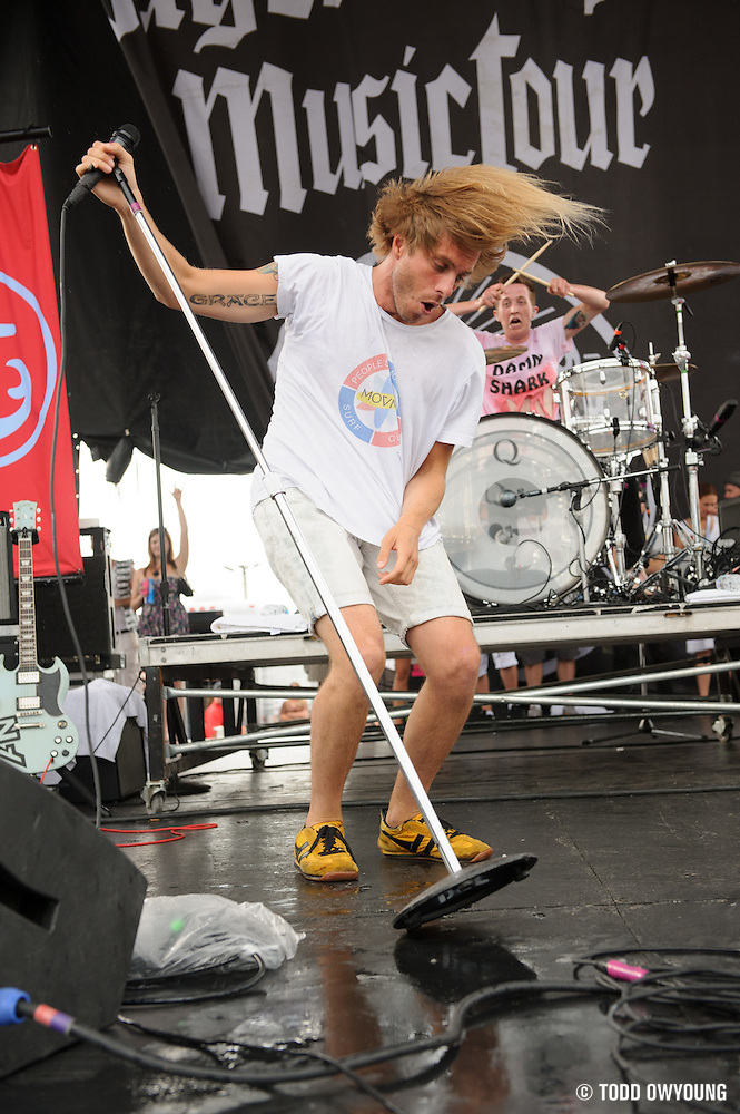 Awolnation. performing at Pointfest 30 on May 30, 2012 in St. Louis at Verizon Wireless Amphitheater. (Todd Owyoung)