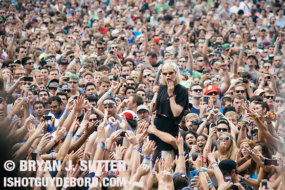 Crystal Castles live at Lollapalooza in Chicago on August 2nd, 2013. (Bryan J. Sutter)