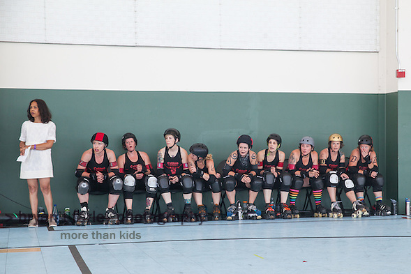 The Oakland Outlaws defeated the Berkeley Resistance 201-154 during the Bay Area Derby league bout on Saturday, June 25, 2016 in Richmond, California. (bryan farley)