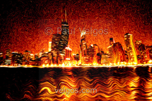 DSC02245 Chicago Hell Chicago Digital Art and Paintings
