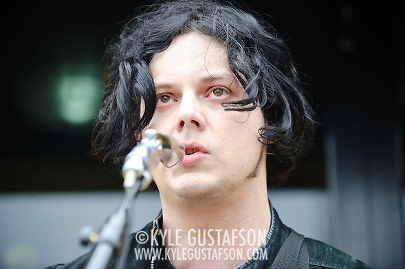 AUSTIN, TX - March 16th, 2011: Jack White performs in a parking lot  at the corners of 4th Street and Colorado Ave. in Austin, TX during the 2011 SXSW festival in Austin, TX.   (Photo by Kyle Gustafson/For The Washington Post) (Photo by Kyle Gustafson / For The Washington Post)