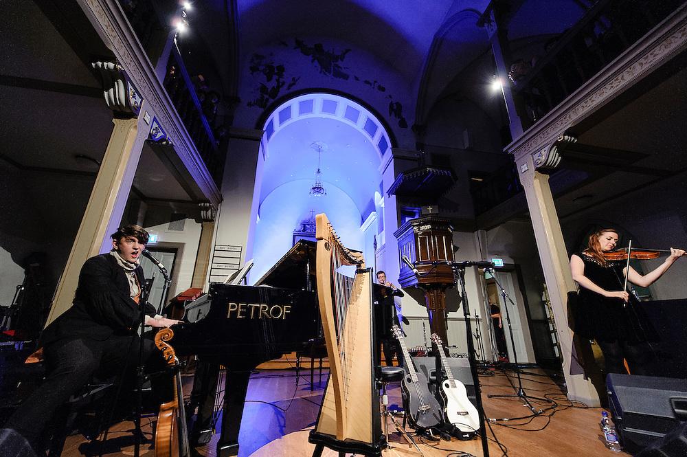 Photos of the musician Patrick Wolf performing live for Iceland Airwaves Music Festival at Frikirkjan in Reykjavik, Iceland. November 2, 2012. Copyright © 2012 Matthew Eisman. All Rights Reserved. (Matthew Eisman/Photo by Matthew Eisman)