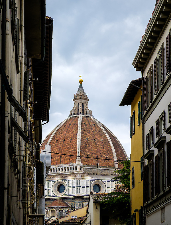 FLORENCE, ITALY - CIRCA MAY 2015: Duomo of Florence. Cathedral Santa Maria del Fiore as seen from the streets. (Daniel Korzeniewski)