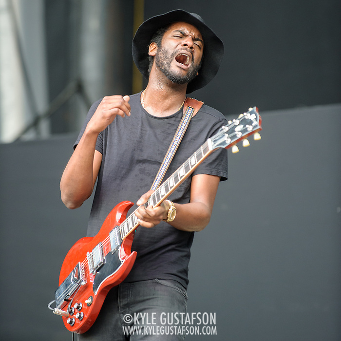 WASHINGTON, DC - July 4, 2015 - Gark Clark Jr. was the first act on stage after the weather delay at the Foo Fighters 20th Anniversary Blowout at RFK Stadium in Washington, D.C. (Photo by Kyle Gustafson / For The Washington Post) (Kyle Gustafson/For The Washington Post)