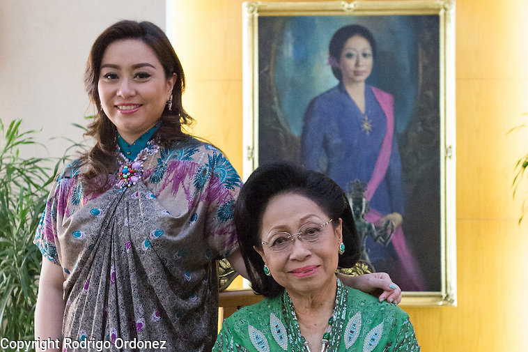 Martha Tilaar (right), founder of the Martha Tilaar Group, and her daughter Wulan Tilaar Widarto pose for a portrait at Martha Tilaar's office in East Jakarta, Indonesia, on July 2, 2015. (Rodrigo Ordonez)