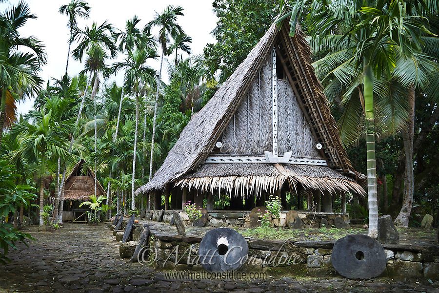 Each piece of stone money has a name and a story.  Some stone money is more valuable than others, depending on the difficulties, heroism and lives lost obtaining and transporting the money, Yap Micronesia. (Photo by Matt Considine Travel Photographer- Images of Asia Collection)