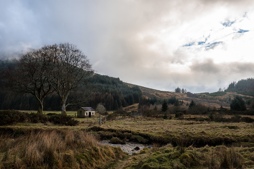 Looking northwest up Glen Massan from the river Massan. (Jack Beal)