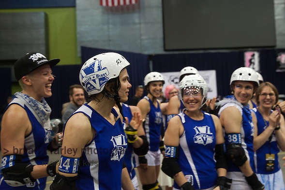 Victorian Roller Derby League from Australia defeated the Bay Area Roller Derby Girls on Sunday, September 13, 2015 in Tucson, Arizona at the Tucson Convention Center. VRDL and BADG advance to the 2015 Championships in November. (bryan farley)