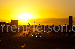 The sun setting during the 12 Hours of Sebring (Darren Pierson)