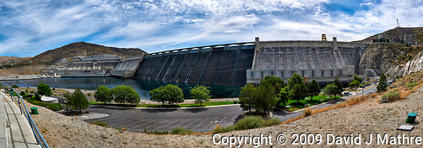 Grand Coulee Dam Panorama. Composite of seven images taken with a Nikon D300 camera and 18-200 mm VR lens (ISO 200, 18 mm, f/11, 1/500 sec). Raw images processed with Capture One Pro, Photoshop and CC, NIK Color Efex. Panorama created using AutoPano Pro. (David J Mathre)