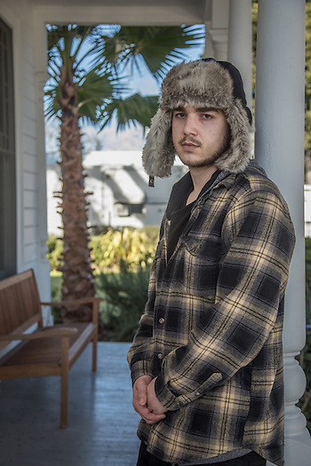 "Twenty three year old Santa Rosa resident Ian Neff awaits his drug and alcohol treatment appointment at the Vermiel Clinic in Calistoga. ""I've reached a point where I've had to make some decisions about my life."" (Clark James Mishler)"