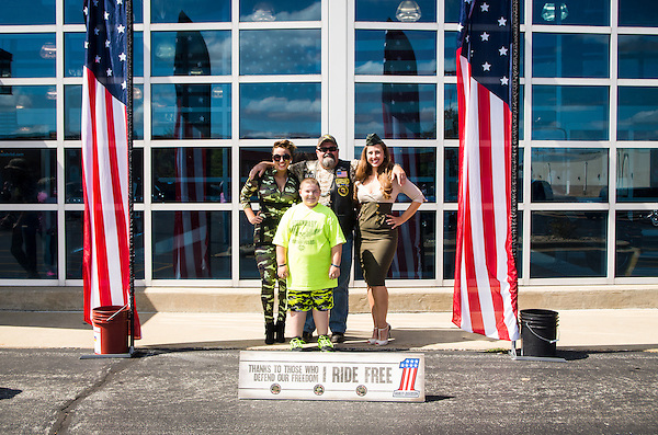 Warrior Run at Coziahr Harley Davidson in Forsyth, Illinois (George Strohl)