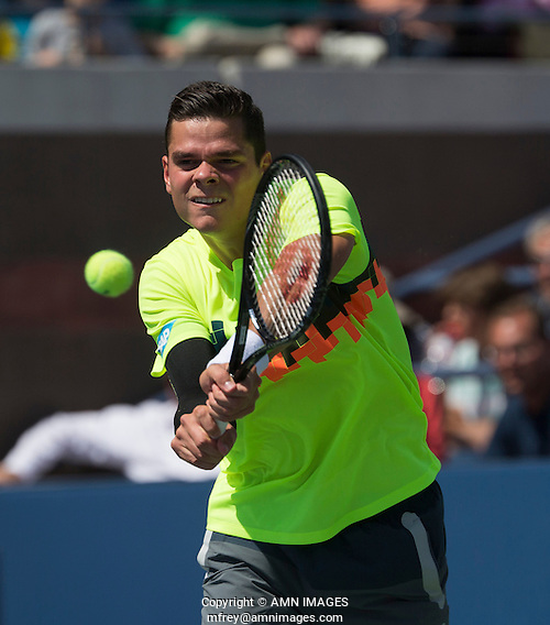 MILOS RAONIC (CAN) The US Open Tennis Championships 2014 - USTA Billie Jean King National Tennis Centre -  Flushing - New York - USA -   ATP - ITF -WTA  2014  - Grand Slam - USA  30th August 2014.  © AMN IMAGES (FREY/FREY-AMN IMAGES)