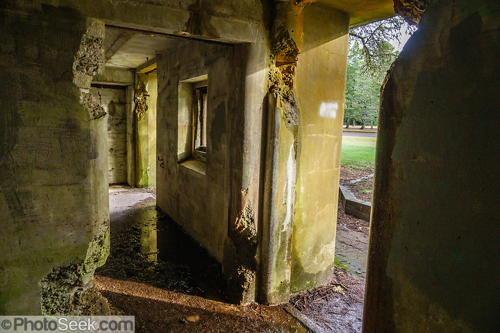 Battery Russell Lower Ammunition Bunker and Quarters at Fort Stevens State Park, Oregon Coast, USA. (© Tom Dempsey / PhotoSeek.com)