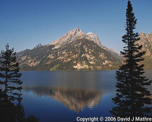 Early Morning Jenny Lake Reflections. Image taken with a Nikon D200 camera and 18-75 mm kit lens (ISO 100, 18 mm, f/5.6, 1/320 sec). (David J Mathre)