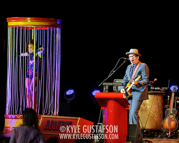 Vienna, VA - June 15th, 2011 - Elvis Costello and the Imposters perfom at Wolf Trap as part of their Spectacular Spinning Songbook Tour. (Photo by Kyle Gustafson) (Photo by Kyle Gustafson / For The Washington Post)