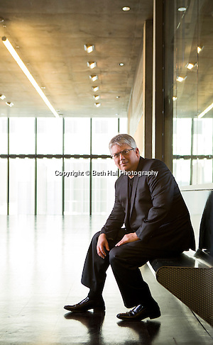 Portrait of the University of Arkansas dean of Architecture, Peter MacKeith, on Wednesday, January 21, 2015, in the Steven L Anderson Design Center in Fayetteville, Arkansas. Photo by Beth Hall (Beth Hall)