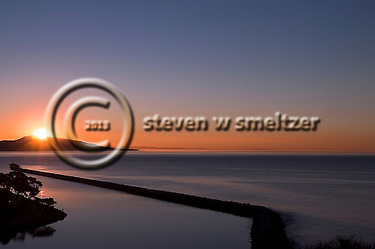 Sunrise Over the Sea Wall Dana Point California (Steven Smeltzer)