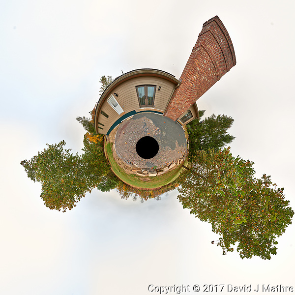Little Planet View. Home renovation -- new patio. Autumn backyard in New Jersey. Image taken with a Nikon D800 camera and 14-24 mm f/2.8 lens (ISO 100, 14 mm, f/16, 1/100 sec) (David J Mathre)
