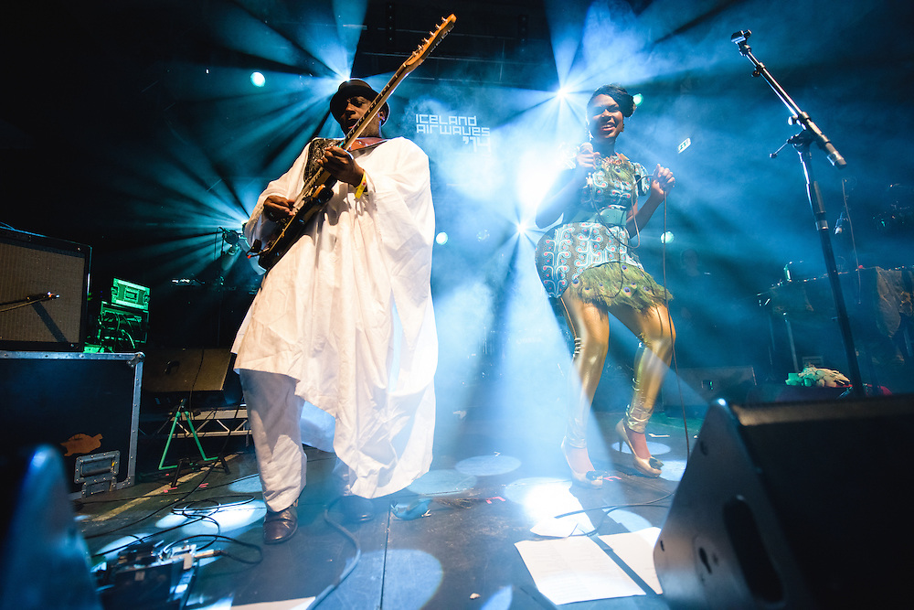 Photos of Ibibio Sound Machine performing live at Reykjavik Art Museum during Iceland Airwaves Music Festival 2014 in Reykjavik, Iceland. November 7, 2014. Copyright © 2014 Matthew Eisman. All Rights Reserved (Matthew Eisman/Photo by Matthew Eisman)
