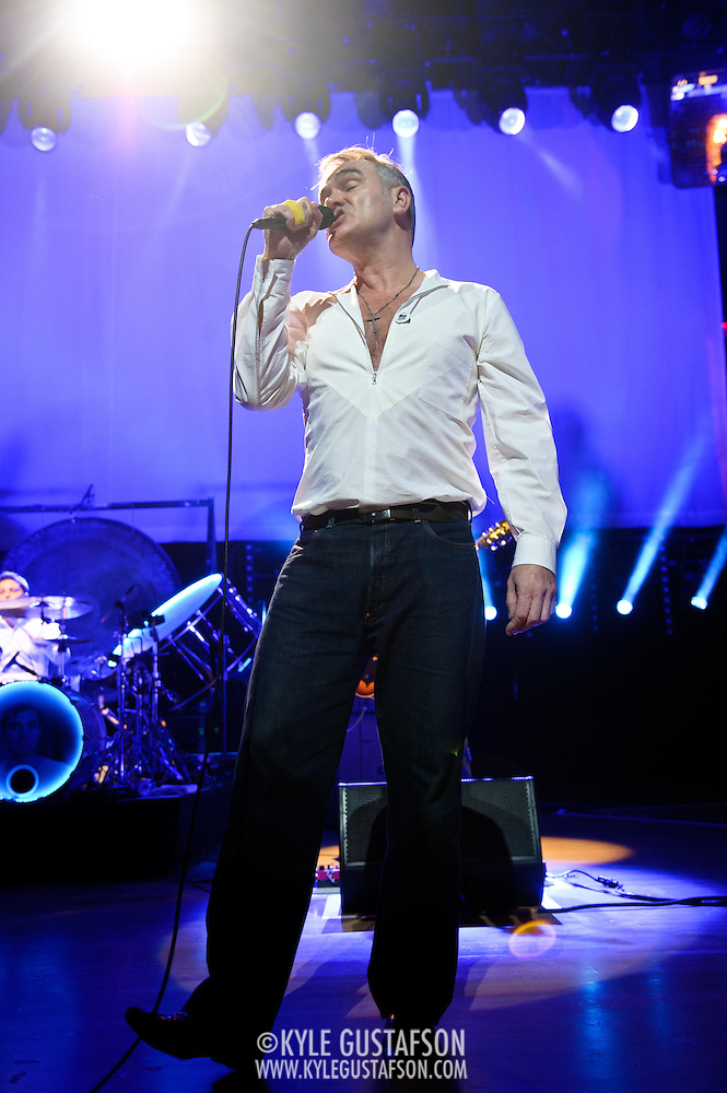"BETHESDA, MD, DC - January 16th, 2013 - British music legend Morrissey performs at the Strathmore Music Hall. His set included solo hits like ""Everyday Is Sunday as well as material from The Smiths, such as ""Still Ill.""( Photo by Kyle Gustafson/For The Washington Post) (Kyle Gustafson/For The Washington Post)"