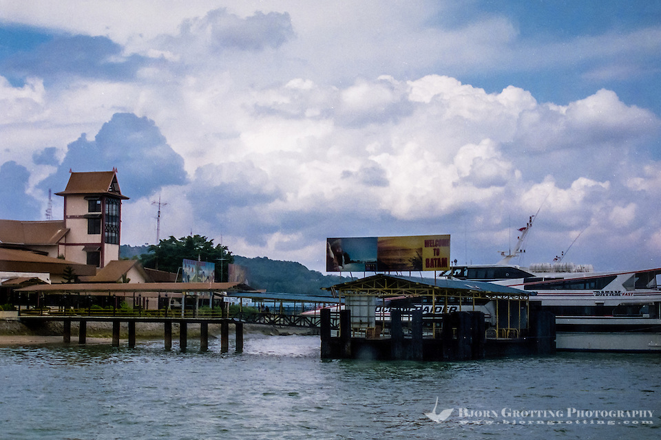 Indonesia, Riau, Batam. The port of Sekupang, the most common port of arrival if you go by boat from Singapore. (Photo Bjorn Grotting)