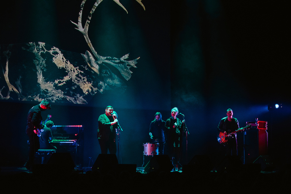 Photos of the Icelandic band Of Monsters And Men performing live for 'Stopp - Let's Protect the Park' nature benefit concert at Harpa concert hall in Reykjavík, Iceland. March 18, 2014. Copyright © 2014 Matthew Eisman. All Rights Reserved (Matthew Eisman/Photo by Matthew Eisman)