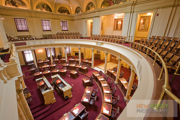 Senate Chamber, at the New Jersey Legislative State House, Trenton, New Jersey (Steve Greer / SteveGreerPhotography.com)