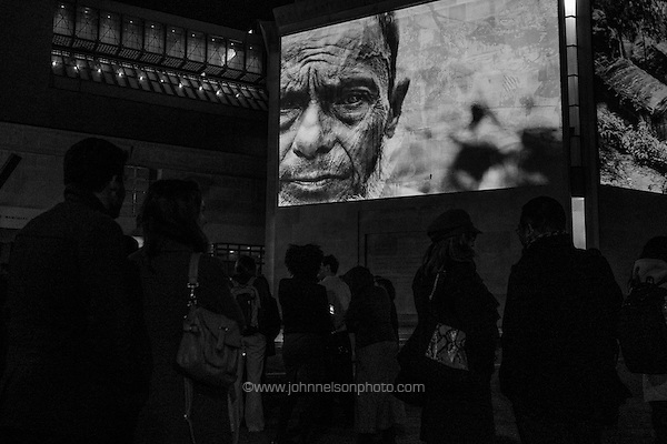 Greg Costantine's photographs of Burma's Rohingya are projected onto the walls at the Holocaust Museum in Washington, DC. (John Nelson/photo by www.johnnelsonphoto.com)