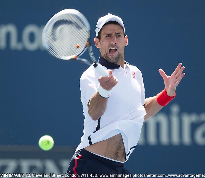 Novak Djokovic..Tennis - US Open - Grand Slam -  New York 2012 -  Flushing Meadows - New York - USA - Saturday 8th September  2012. .© AMN Images, 30, Cleveland Street, London, W1T 4JD.Tel - +44 20 7907 6387.mfrey@advantagemedianet.com.www.amnimages.photoshelter.com.www.advantagemedianet.com.www.tennishead.net (FREY - AMN IMAGES)