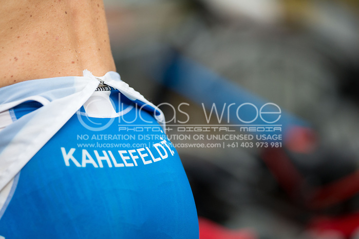 Brad Kahlefeldt (AUS), June 1, 2014 - TRIATHLON : Coral Coast 5150 Triathlon, Cairns Airport Adventure Festival, Four Mile Beach, Port Douglas, Queensland, Australia. Credit: Lucas Wroe (Lucas Wroe)