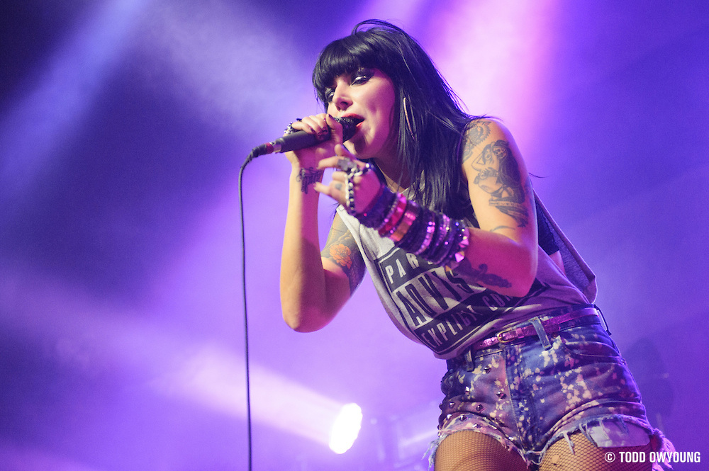 Sleigh Bells performing live at the Pageant in St. Louis on October 28, 2012. (TODD OWYOUNG)