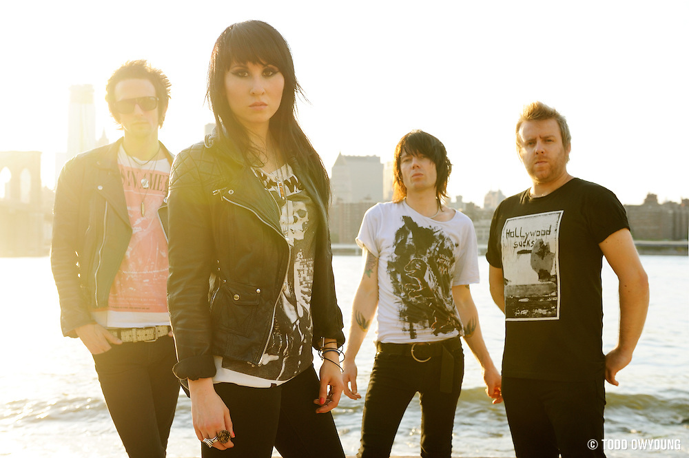 Portraits of the UK band Deluka, photographed in Brooklyn on June 20, 2010 by photographer Todd Owyoung. (Todd Owyoung)