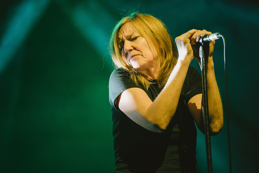 Photos of Portishead performing live at Atlantic Studios in Ásbrú for ATP Iceland 2014 in Keflavík, Iceland. July 11, 2014. Copyright © 2014 Matthew Eisman. All Rights Reserved (Matthew Eisman/Photo by Matthew Eisman)